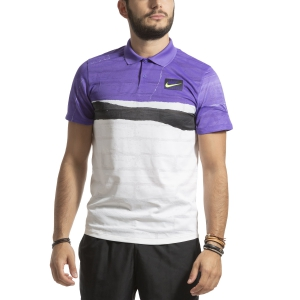 Polo Tennis Uomo Nike Court Advantage Polo  Psychic Purple AT4155550