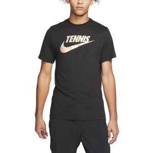 Men's Tennis Shirts Nike Court DriFIT Graphic TShirt  Black CQ0971010