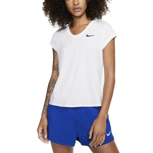 Women`s Tennis T-Shirts and Polos Nike Court DriFIT TShirt  White/Black CQ5364100
