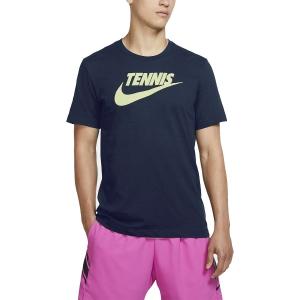 Maglietta Tennis Uomo Nike Court DriFIT Maglietta  Obsidian/Volt CJ0429451