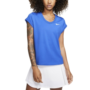 Women`s Tennis T-Shirts and Polos Nike Court DriFIT TShirt  Game Royal/White CQ5364480