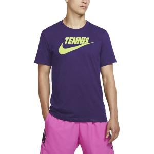 Camisetas de Tenis Hombre Nike Court DriFIT Camiseta  Court Purple/Volt CJ0429547