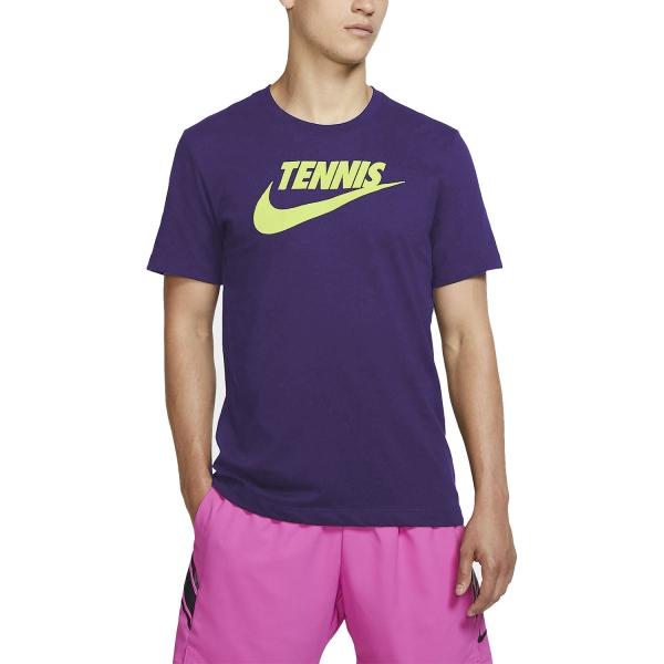 Tennis Fit Uomo Nike Maglietta Purplevolt Court Dri sdhBCxtQr