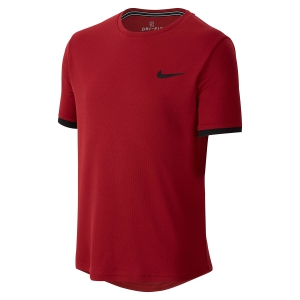 Polos y Camisetas de Tenis Nike Boy Court Dry TShirt  Red CD0072613
