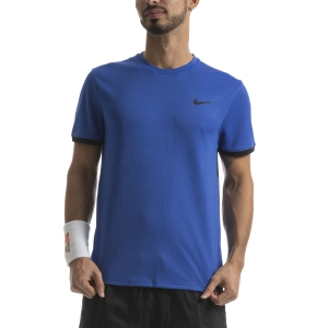 Men's Tennis Shirts Nike Court Dry TShirt  Game Royal/Black 939134480