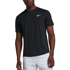 986781c0d46 Nike Court Dry T-Shirt - Black White