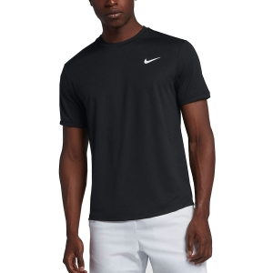 Men's Tennis Shirts Nike Court Dry TShirt  Black/White 939134010