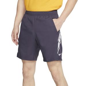 Pantaloncini Tennis Uomo Nike Court Dry 9in Pantaloncini  Gridiron/White 939265015
