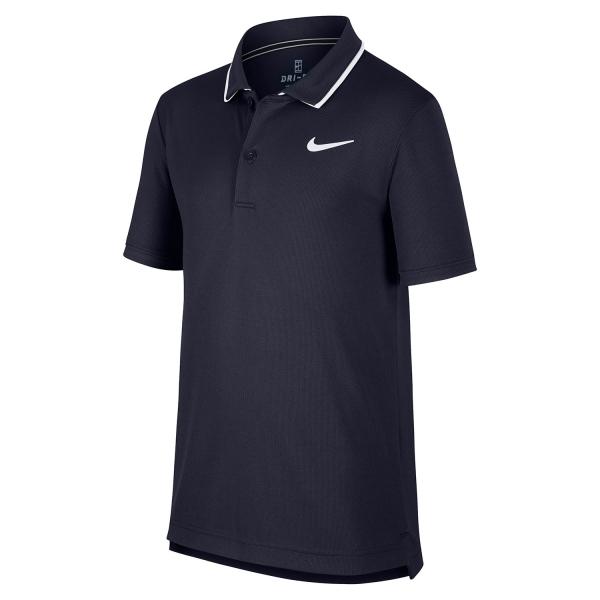 03d5be54a505 Nike Court Dry Team Boy Tennis Polo - Navy