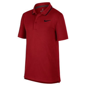 Polos y Camisetas de Tenis Nike Boy Court Dry Team Polo  Red BQ8792613