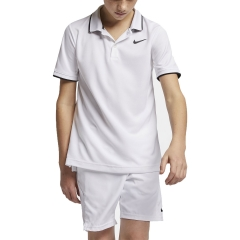 Nike Nike Boy Court Dry Team Polo  White/Black  White/Black BQ8792100