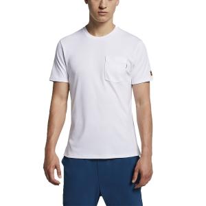 Men's Tennis Shirts Nike Court Heritage TShirt  White CJ0516100