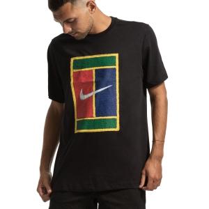 Camisetas de Tenis Hombre Nike Court Heritage Camiseta  Black BV7010010