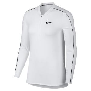Maglie e Felpe Tennis Donna Nike Court Half Zip Shirt  White/Black 939322100