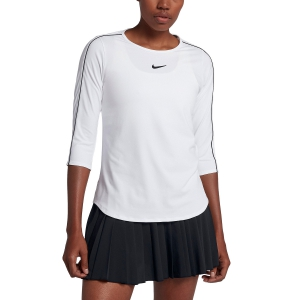 Women's Tennis Shirts and Hoodies Nike Court Shirt  White AQ7658100