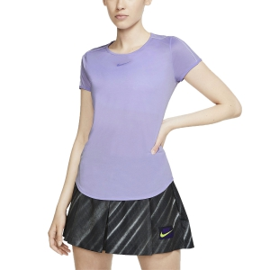 Women`s Tennis T-Shirts and Polos Nike Court TShirt  Purple Agate/White 939328552