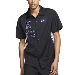 Nike Court New York Style T-Shirt - Off Noir/Volt