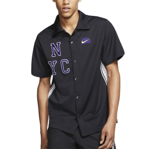 Men's Tennis Shirts Nike Court New York Style TShirt  Off Noir/Volt AT4303045