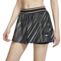Nike Court Slam New York 2in 2 in 1 Shorts - Off Noir/Black/Court Purple/Volt