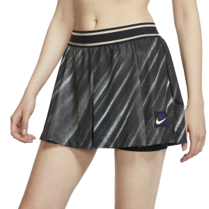 Gonne e Pantaloncini Tennis Nike Court Slam New York 2in 2 in 1 Pantaloncini  Off Noir/Black/Court Purple/Volt AT5070045