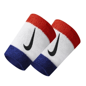 Fasce e Polsini Tennis Nike DoubleWide Wristbands  Blue/White/Red N.000.1586.620.OS