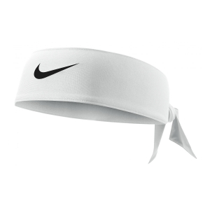 Tennis Headbands Nike DriFIT Tie 3.0 Headband  White/Black N.000.3706.101.OS