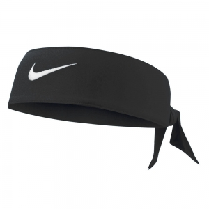 Tennis Head and Wristbands Nike Dri Fit Head Tie 3.0 Band  Black/White N.000.3706.010.OS