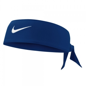 Tennis Head and Wristbands Nike Dri Fit Head Tie 3.0 Band  Royal/White N.000.3706.413.OS