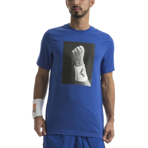 Men's Tennis Shirts Nike DriFIT Rafa TShirt  Game Royal CJ0432480