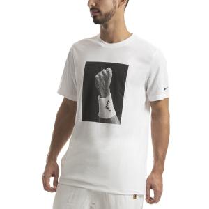 Camisetas de Tenis Hombre Nike DriFIT Rafa Camiseta  White CJ0432100