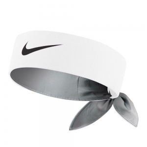Tennis Head and Wristbands Nike Logo Headband  White/Black N.TN.00.101.OS