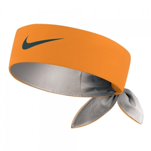 Tennis Head and Wristbands Nike Logo Headband  Orange/Grey N.TN.00.805.OS