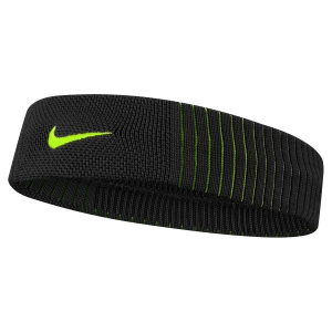 Tennis Head and Wristbands Nike Dry Reveal Headband  Black/Volt N.000.2284.085.OS