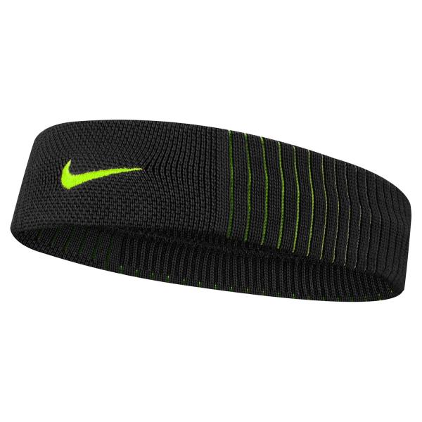 Nike Dry Reveal Headband - Black/Volt N.000.2284.085.OS
