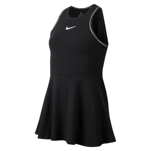 Vestitino Tennis Girl Nike Girl Dry Dress  Black/White AR2502010