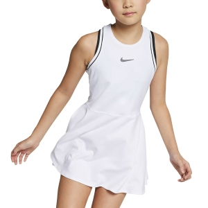 Vestitino Tennis Girl Nike Girl Dry Dress  White/Black AR2502100