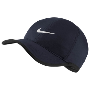 Tennis Hats and Visors Nike Featherlight Cap  Navy/Black 679421454