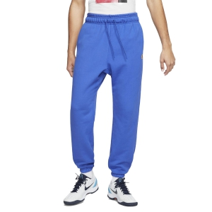 Men's Tennis Pants and Tigths Nike Fleece Heritage Pants  Game Royal CK2178480