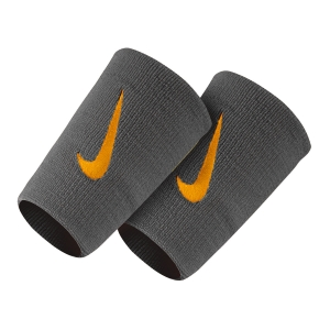 Fasce e Polsini Tennis Nike Premier DoubleWide Wristbands  Dark Grey/Orange N.000.2466.051.OS