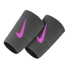 Nike Swoosh Double-Wide Wristbands - Dark Grey/Orange