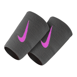 Tennis Head and Wristbands Nike Premier DoubleWide Wristbands  Dark Grey/Fuxia N.000.2466.044.OS