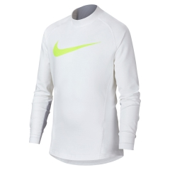 Nike Boy Pro Warm Shirt - White/Grey