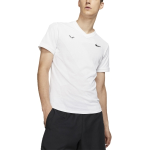 Men's Tennis Shirts Nike Rafa AeroReact TShirt  White/Black AQ7660100
