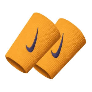 Tennis Head and Wristbands Nike Swoosh DoubleWide Wristbands  Canyon Gold/Burgundy Ash N.000.2466.709.OS