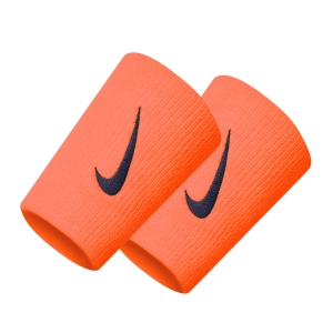 Tennis Head and Wristbands Nike Swoosh DoubleWide Wristbands  Total Orange/Obsidian N.000.2466.832.OS