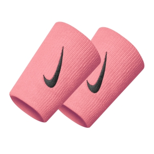 Tennis Head and Wristbands Nike DoubleWide Wristbands  Pink/Black N.000.1586.677.OS