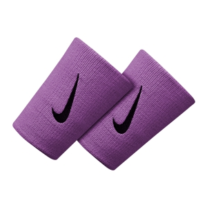 Tennis Head and Wristbands Nike Premier DoubleWide Wristbands  Bright Violet/Black N.000.2466.535