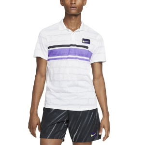 Polo Tennis Uomo Nike Court Advantage New York Polo  White AT4158100