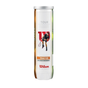 Wilson Tennis Balls Wilson Tour Practice  4 Ball Can WRT114500