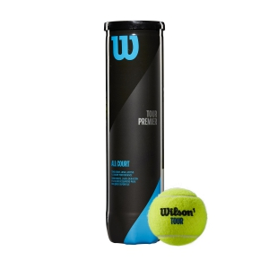 Wilson Tennis Balls Wilson Tour Premier All Court  4 Ball Can WRT119400